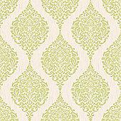 Superfresco Luna Damask Green Wallpaper