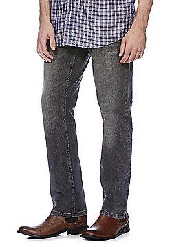 F&F Washed Straight Leg Jeans - Grey