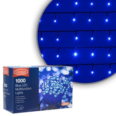 1000 led blue chaser christmas lights