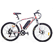 Cyclamatic Cx3 Pro Power Plus Alloy Frame Electric Bicycle / Ebike White/Red