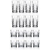 RCR Orchestra Crystal Tumbler Glasses (340ml) & Hiball Glasses (396ml) 16 Pc Set