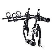 Outsunny 2 Bike Carrier Car Back Rack Rear Mounted Universal Travel Transit - Black