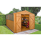 Forest Garden Shiplap Dip Treated 12x8 Double Door Apex Shed