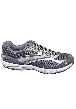 Women's Ryka Dash Walking Trainers Grey-Silver-Lime - Grey