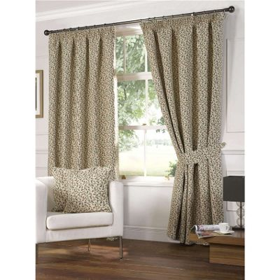Hawthorn Pencil Pleat Curtains 168 x 183cm - Terracotta
