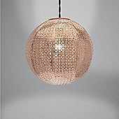 Country Club Metal Light Shade, Nouveau Cadiz Ball Copper