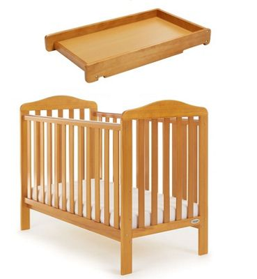 Obaby Ludlow Cot and Cot Top Changer - Country Pine