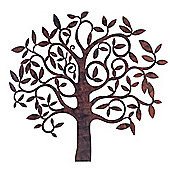 Large Rusty Finish Metal Tree Garden or Home Wall Art
