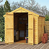 BillyOh Keeper Overlap Apex Wooden Garden Shed - 8 x 6 Windowless
