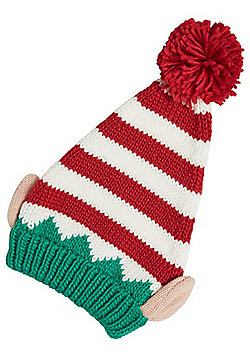 F&F Hat with a Heart Elf Christmas Hat - Multi