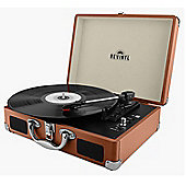 Revinyl Briefcase Bluetooth Vinyl Record Player - Brown