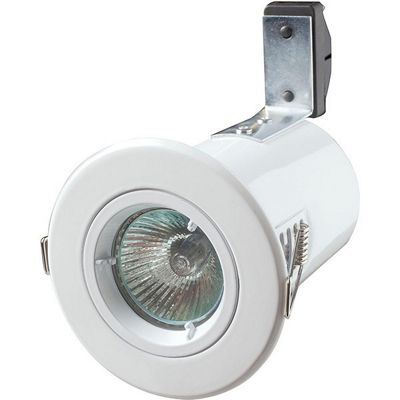 Robus GU/GZ10 Straight Fire Rated Downlight - Brass (RF201-02)