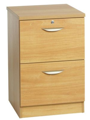 Enduro Two Drawer Wooden Filing Cabinet - Warm Oak