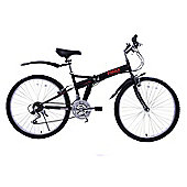 "Ammaco Pakka 26"" Wheel Folding Bike Black"