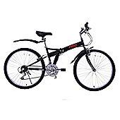 "Ammaco Pakka 26"" Wheel Folding Bike Black"