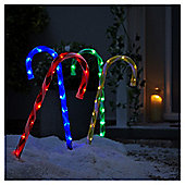 Light Up Candy Cane Christmas Path Marker lights, 4 pack