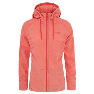 The North Face Ladies Mezzaluna Full Zip Fleece Cayenne Red L