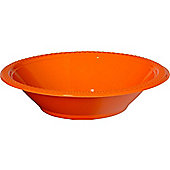 Orange Party Bowls - 355ml Plastic, Pack of 20