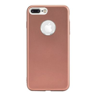 iPhone 7 Plus Matte Metallic Finish Slimline Soft Flexi TPU Phone Case - Pink
