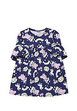 Peppa Pig Unicorn Print Smock Dress - Navy