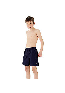 Speedo Boys Solid Leisure Shorts - Navy