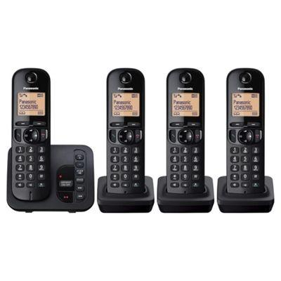 Panasonic KXTGC224EB Quad Cordless DECT Telephone with Answerphone
