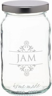 KitchenCraft Home Made 454ml Decorated 'Jam' Preserving Jar