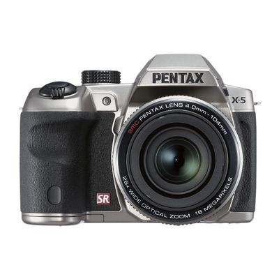 Pentax Optio X-5 Bridge Camera Silver 16MP 26xZoom 3.0LCD FHD 22.3mm Wide Len
