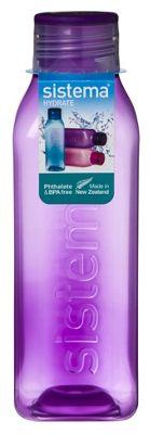Sistema Hydrate 725ml Square Drink Bottle, Purple