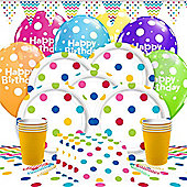 Rainbow Dots Party Pack - Deluxe Pack for 16