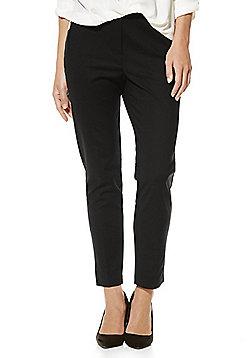 F&F Mid Rise Slim Leg Ankle Grazer Trousers - Black