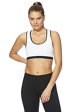 F&F Active Reversible Seamfree Light Impact Crop Top - Black