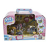Pet Parade Family Deluxe Cat & Kitty Pack - Grey Tabby