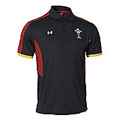 Under Armour Wales WRU Mens Polo 2017 - Black - Black