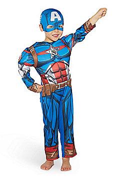 Marvel Captain America Fancy Dress Costume - Blue