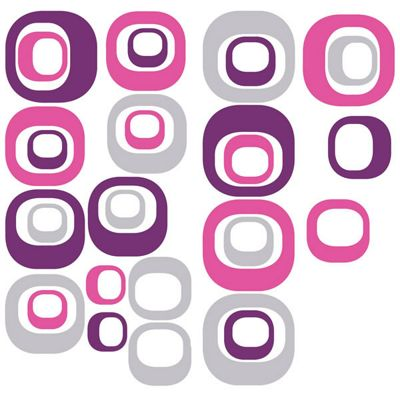 Modern Ovals Wall Stickers