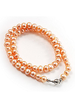 Light Pink Freshwater Pearl Necklace (7mm)