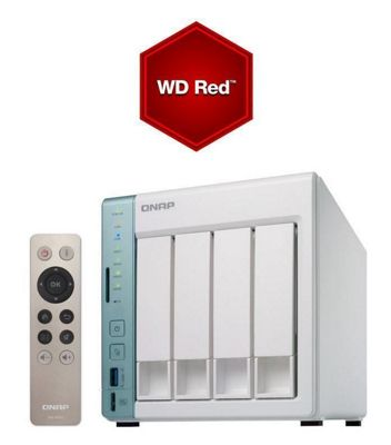 QNAP TS-451A-2G-8TB-RED 4-bay 8TB (4x2TB WD Red) Dual-core NAS