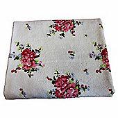 Homescapes Floral Printed White Bath Towel 100% Cotton
