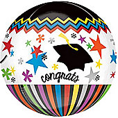 Congratulations Graduate Orbz Balloon - 25 inch Long Lasting