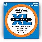 D'Addario EXL110 Electric Guitar Strings - Reg. Light