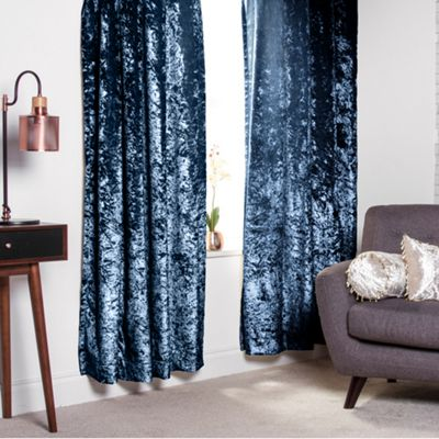 Dusk Crushed Velvet Heavyweight Curtains 90
