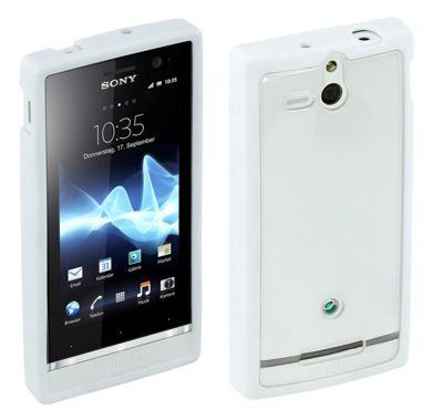 Sony Original Rubber Case for Xperia U - White