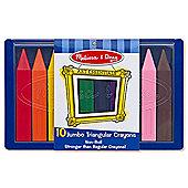 Melissa And Doug Jumbo Triangular Crayons - 10 Pack