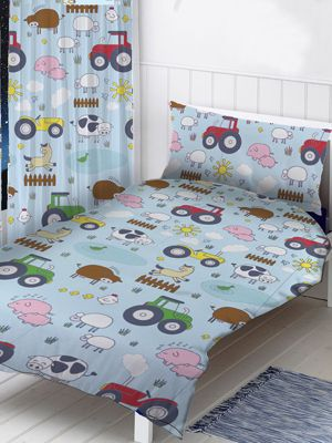 Farm Animals Single Duvet Cover and Pillowcase Set