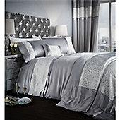 Catherine Lansfield Luxor Jacquard Duvet Cover Set - Silver