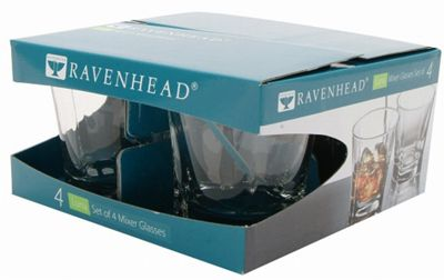Ravenhead Luna Mixer Glass Set of 4