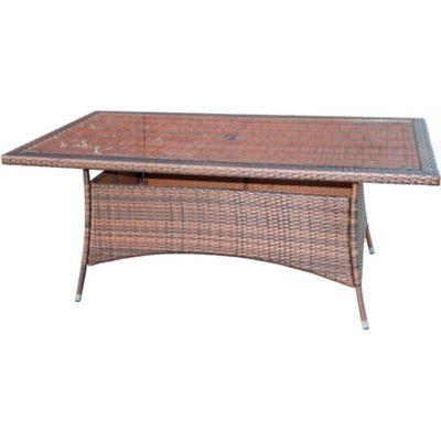 Rectangular Dining Table in Chocolate Mix (180 x 100)