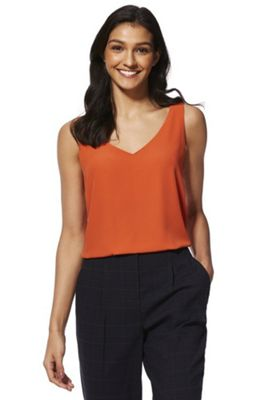 F&F Cross-Back Shell Top Rust Orange 8