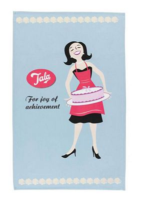 Tala Retro For The Joy of Achievement Design Tea Towel